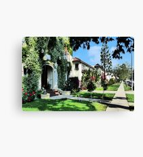 Neighborhood Walk Canvas Print