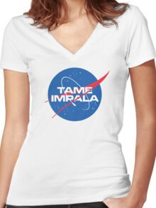 NASA Tame Impala Logo Women's Fitted V-Neck T-Shirt