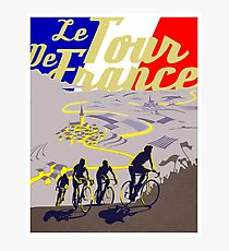 TOUR DE FRANCE; Vintage Cycle Racing Print Photographic Print