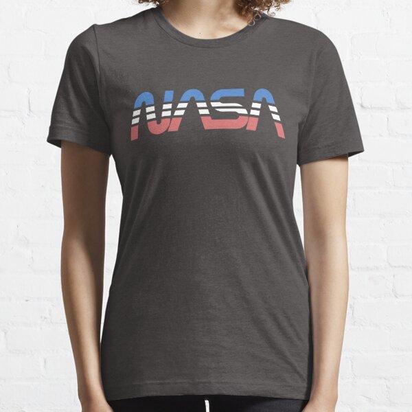 NASA Worm Retro Bleu-Rouge-Blanc T-shirt essentiel