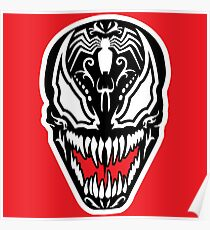 Venom Sugar Skull Poster