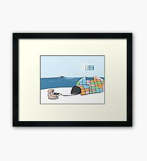 Igloo Tetris Framed Print