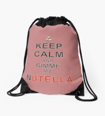 Keep calm and gimme my nutella Drawstring Bag