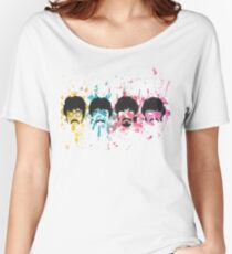 Watercolor Sgt. Pepper's Design Women's Relaxed Fit T-Shirt