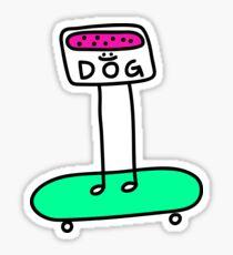 Space Dog Legs Sticker