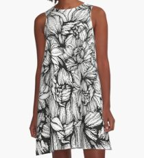 peony graphic floral spring graphic A-Line Dress