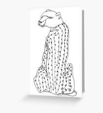 I wonder why this cheetah has the head of a bear... Greeting Card