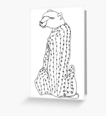 I wonder why this cheetah has the head of a bear... Greeting Card