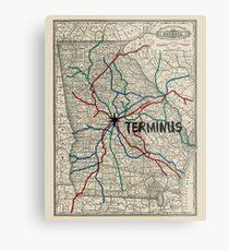 Terminus Map Metal Print
