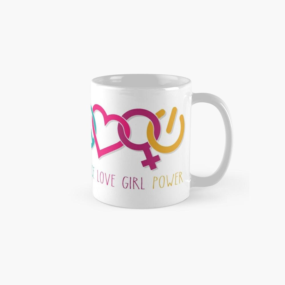 Peace Love Girl Power Symbol Multicolor Mug