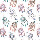 Simple Multicolored Dreamcatchers by Kristina S