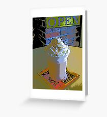Comic Abstract Orange Smoothie Greeting Card