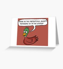 The Catcher in the Rye - Where do the ducks go? Greeting Card