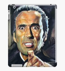 Christopher Lee Horror of Dracula poster iPad Case/Skin