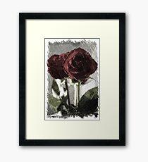 Charcoal Rose Framed Print