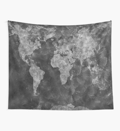 world map 55 Wall Tapestry