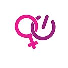 Woman Power Symbol - Pink Purple by jitterfly