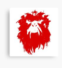 12 Monkeys - Terry Gilliam - Wall Drawing Red Canvas Print