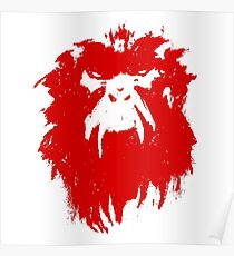 12 Monkeys - Terry Gilliam - Wall Drawing Red Poster