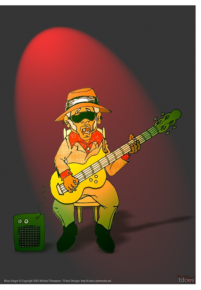 Blues Singer greeting card by tdoes