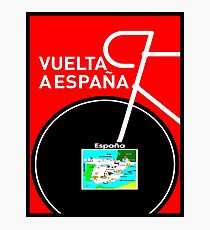 VUELTA A ESPANA: Bicycle Racing Advertising Print Photographic Print