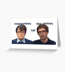 UC Heroes - Monkman v Goldman Greeting Card