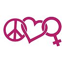 Peace Love Women - Pink by jitterfly