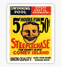 Coney Island Steeplechase matchbook fan art Sticker
