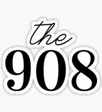 the 908 – nj area code Sticker