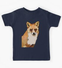 Pop Art Staring Fox (Foxy McFox-Face) Kids Tee