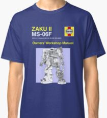 Gundam - Zaku ii - Owner's Manual Classic T-Shirt
