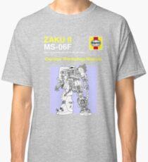 Gundam - Zaku ii - Owner's Manual Classic T-Shirt