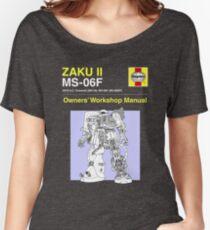 Gundam - Zaku ii - Owner's Manual Women's Relaxed Fit T-Shirt