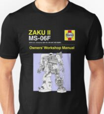 Gundam - Zaku ii - Owner's Manual Unisex T-Shirt