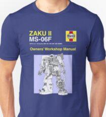 Gundam - Zaku ii - Owner's Manual Unisex T-Shirt