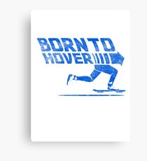 Born To Hover Blue (Distressed) Canvas Print
