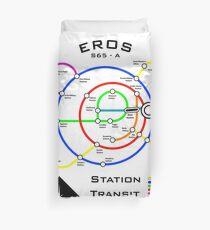Eros Station Transit Map for Light Colors Duvet Cover