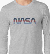 NASA Worm Retro Blue-Red-Blue T-Shirt
