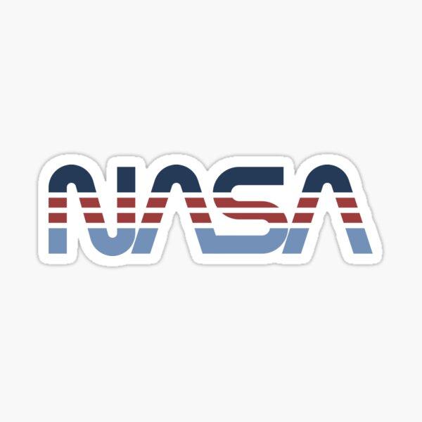 NASA Worm Retro Blue-Red-Blue Sticker