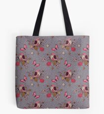 Bird Butterfly Floral Pattern. Tote Bag