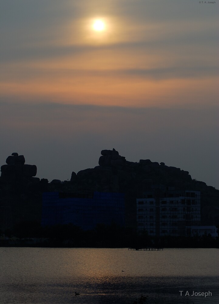 Silhouetted Hills by T A Joseph