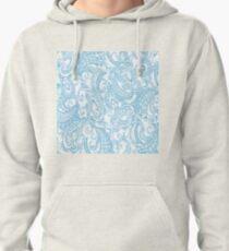 paisley batik blue Pullover Hoodie