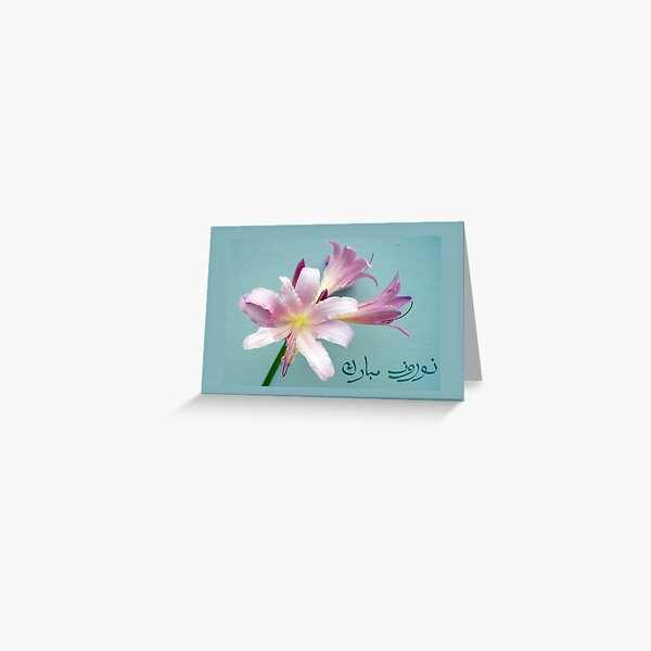 Happy Norooz in Farsi, Persian New Year, Surprise Lily Greeting Card