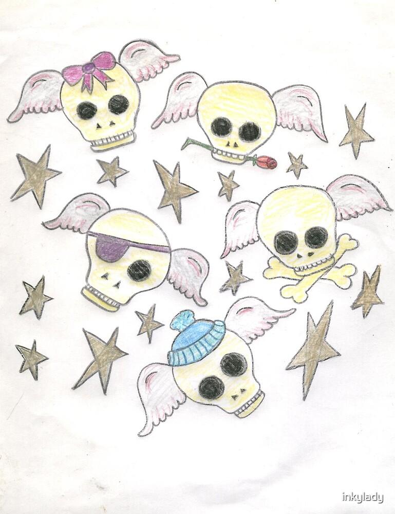 funny skulls  by inkylady