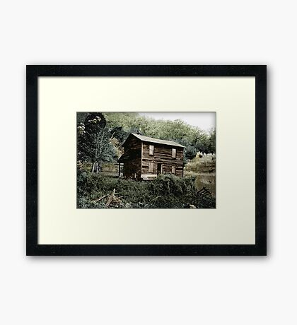 An Abandoned Dwelling Of Yesteryear Framed Print