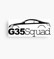 G35 Squad, infiniti coupe Canvas Print