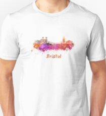 Bristol skyline in watercolor Unisex T-Shirt