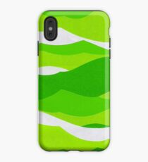 Waves - Lime green iPhone Case