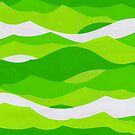 Waves - Lime green by figandfossil
