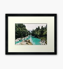 cyan river Framed Print